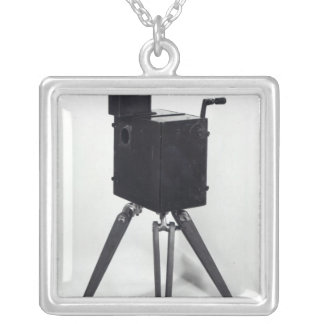 The first Lumiere cinematographe Silver Plated Necklace