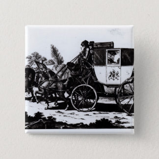 The First Mail Coach, 1784 15 Cm Square Badge