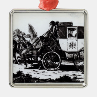 The First Mail Coach, 1784 Christmas Ornament