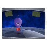 The First Man Welcoming Aliens Greeting Card