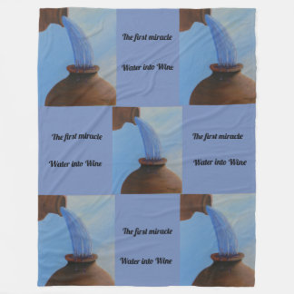 The first miracle, Water into Wine Fleece Blanket
