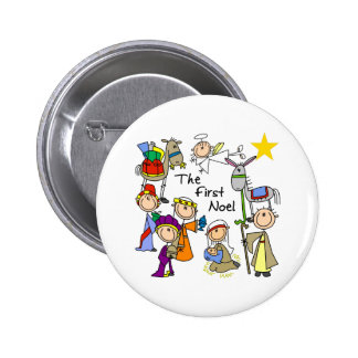 The First Noel Christmas Gift 6 Cm Round Badge