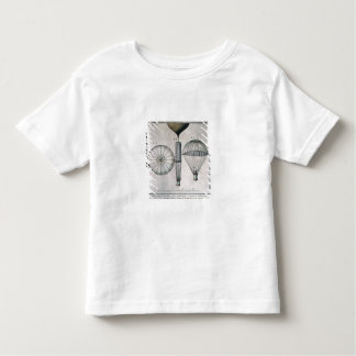 The First Parachute Descent by Andre-Jacques Garne Toddler T-Shirt