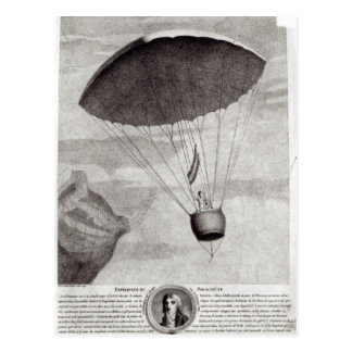 The First Parachute Descent Postcard