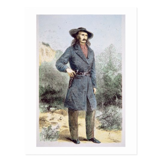 The first published picture of 'Wild Bill' Hickok Postcard