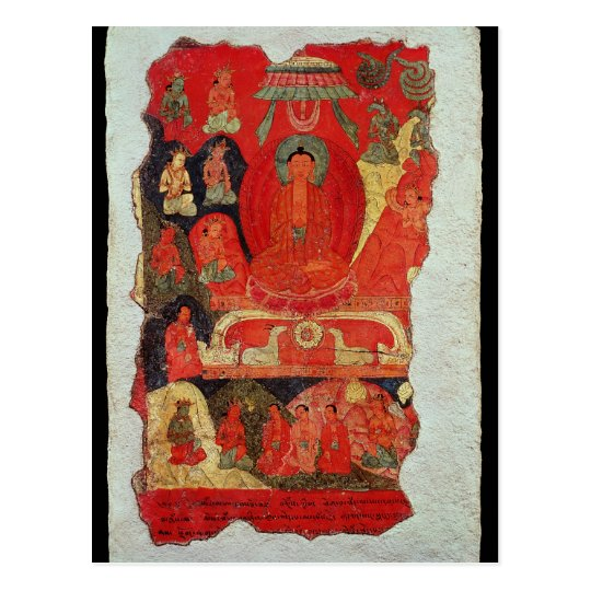 The First Sermon of Buddha Postcard