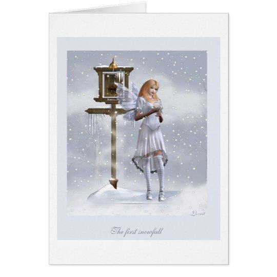 The first snowfall card
