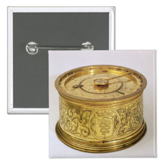 The first spring driven clock with fusee, 1525 15 cm square badge