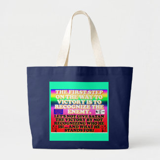 The first step on the way to victory. large tote bag