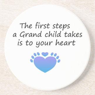 The First Steps Unique Grandchild Coaster