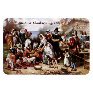 The First Thanksgiving,1621. Fine Art Magnet