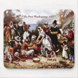 The First Thanksgiving,1621. Fine Art Mousepad