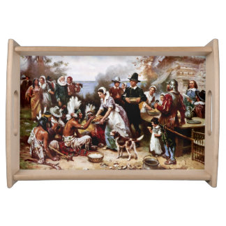 The First Thanksgiving, 1621. Serving Tray