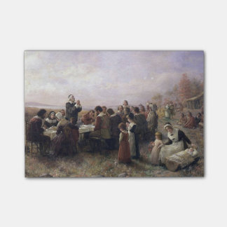 The First Thanksgiving at Plymouth by Brownscombe Sticky Note