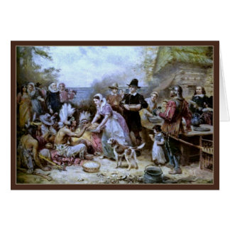 The First Thanksgiving by Ferris-Thanksgiving Card