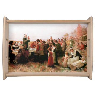The First Thanksgiving. Decorative Serving Tray
