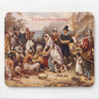 The First Thanksgiving Mouse Mat