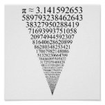 The First Thousand Digits of Pi (looks infinite) Print