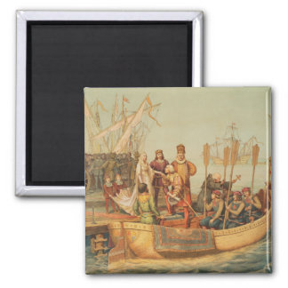 The First Voyage Square Magnet