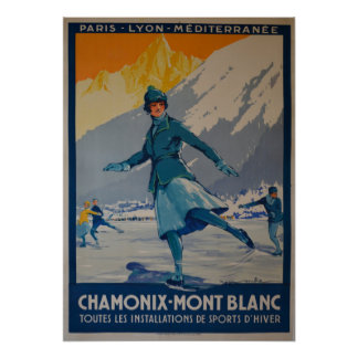 the first winter olympics 1924 poster