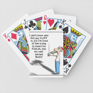 THE FISCAL CLIFF BICYCLE POKER CARDS