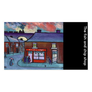 The fish and chip shop.business card pack of standard business cards