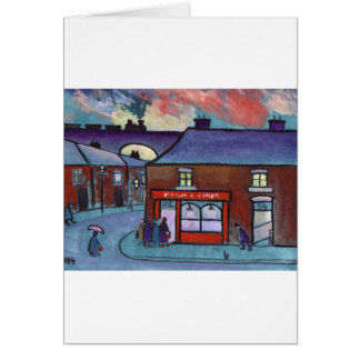THE FISH AND CHIP SHOP GREETING CARD