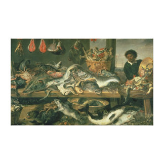 The Fish Market, 1618-21 Canvas Print
