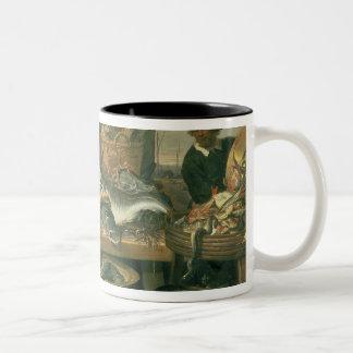 The Fish Market, 1618-21 Two-Tone Coffee Mug