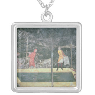 The Fish Pond, from the Stag Room, 1343 Silver Plated Necklace