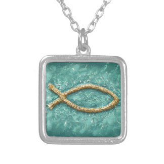 The Fish Silver Plated Necklace