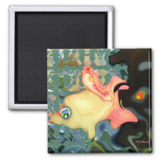 The Fish, the Bird & The Bogeyman Square Magnet