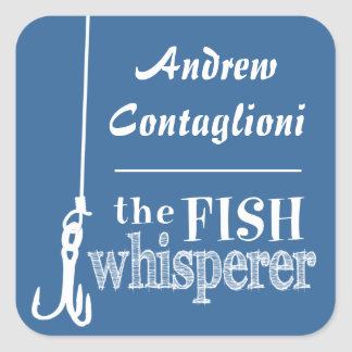 The Fish Whisperer (customizable colors) Sticker