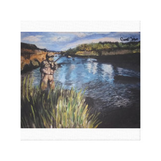 the fisher man canvas print