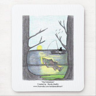 """The Fisherman"" Mouse Mat"