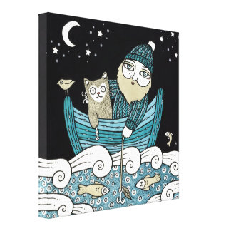 The Fishermans Cat Gallery Wrap Canvas