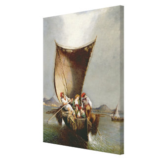The Fisherman's Family (oil on canvas) Canvas Print