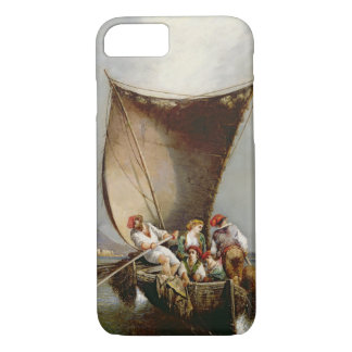 The Fisherman's Family (oil on canvas) iPhone 8/7 Case
