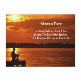 The Fishermans Prayer' Canvas Print