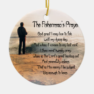 The Fishermans Prayer Round Ceramic Decoration
