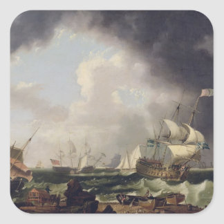 The Fishery, c.1764 (oil on canvas) Square Sticker