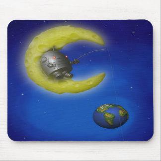 The Fishing Moon Mousepad