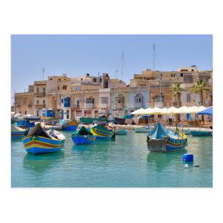 The Fishing Village of Marsaxlokk Malta Postcard