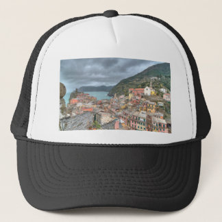 The fishing village of Vernazza, Cinque Terre, Ita Trucker Hat