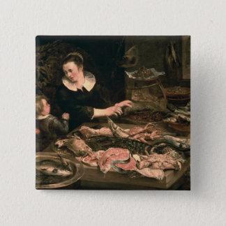 The Fishmonger 15 Cm Square Badge