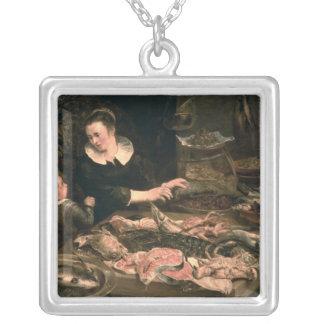The Fishmonger Square Pendant Necklace