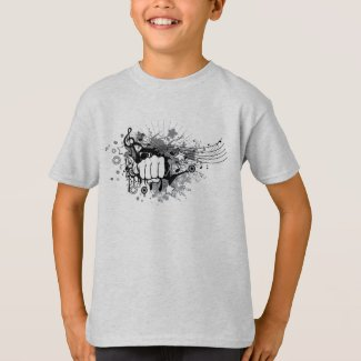 The fist of music  T-Shirt