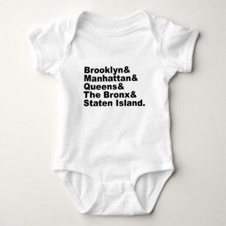 The Five Boroughs of New York City Baby Bodysuit