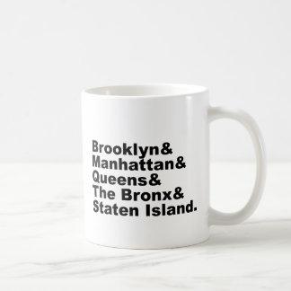 The Five Boroughs of New York City Basic White Mug