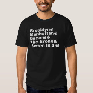 The Five Boroughs of New York City T Shirt